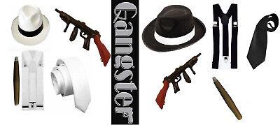 1920/'s Big Daddy Flapper 5 Piece Al Capone Set Kit Fancy Dress Up Gangster set