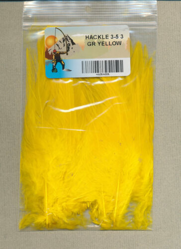 3-5 in yellow 3 gms Hackle