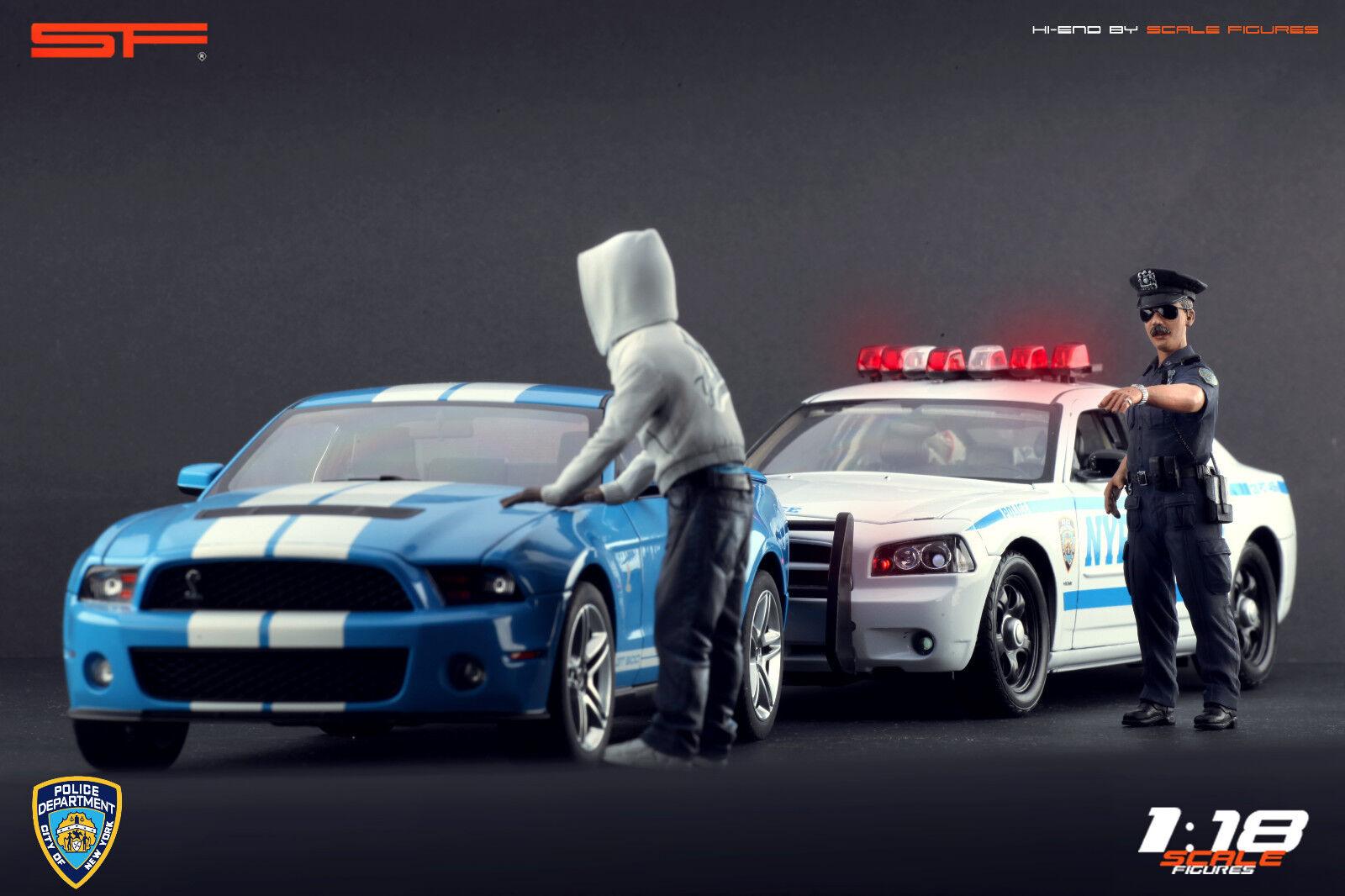 1 18 NY policía Y Coche Ladrón Figuritas no coches    Para Coleccionistas Diecast