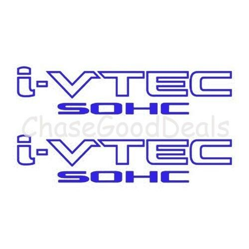 BLUE I-VTEC SOHC STICKER X2 DECAL EMBLEM CIVIC S2000 ACCORD JDM IMPORT ILLEST