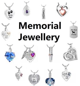 Cremation-Jewellery-Ashes-Pendant-Necklace-Locket-Urn-Keepsake-Memorial-UK