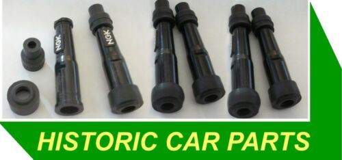 6 NGK STRAIGHT SUPRESSED PLUG CAPS for 1950s-70s Vehicles Screw on to lead