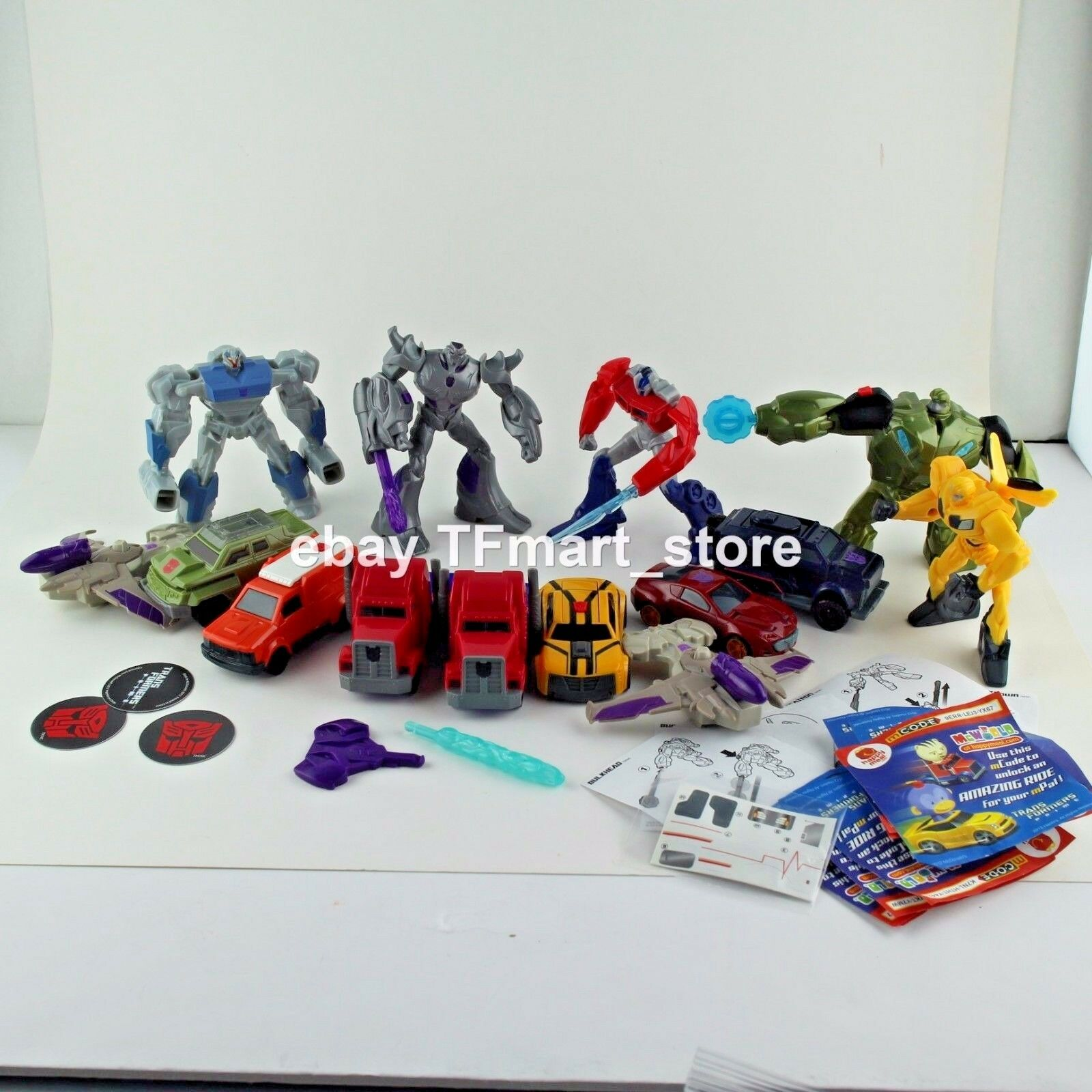 Transformers Prime Beast Hunters Mcdonald Felice Pasto Optimus Megatron Lotto