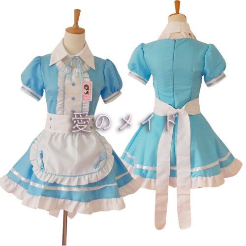Damen Lolita Maid Servant Dress Mädchen Kleid Kellnerin Miku Cosplay Kostüme