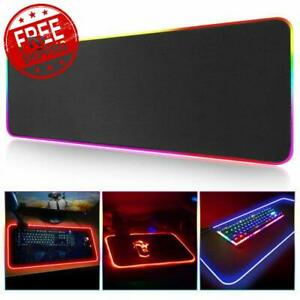 Gaming Mouse Computer Pad Large RGB LED Alfombrilla de ratón...