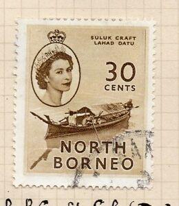 British North Borneo 1954-57 Early Issue Fine Used 30c. 069984