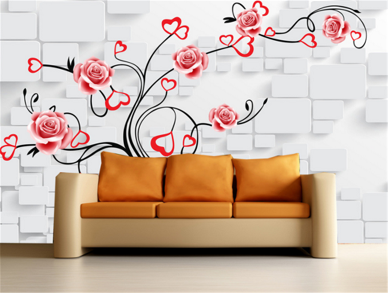 3D Flowers Love Tree 873 Wallpaper Mural Paper Wall Print Wallpaper Murals UK