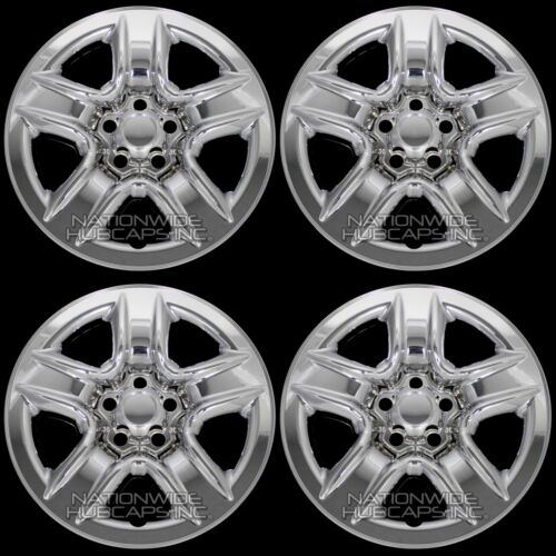 """4 New 2006-2012 Toyota RAV4 17/"""" Chrome Wheel Skins Hub Caps Full Rim Skin Covers"""