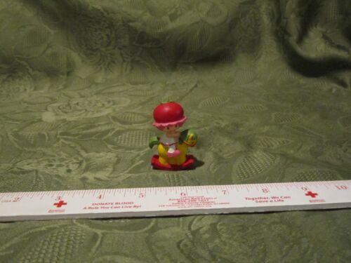 Vintage Strawberry Shortcake PVC 2 mini Cherry Cuddler Rocking Horse red hat
