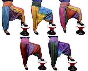 10Pcs-Cotton-Seer-Sucker-Alibaba-Harem-Trousers-Pants-for-Ladies-Wholesale-Lot