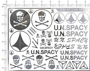 Details about Super Detail Up VF-1 U N SPACY Macross Crossbone Model Kit  Metallic Sticker
