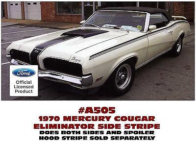 1970 Cougar Eliminator stripe kit Ford licensed black or white