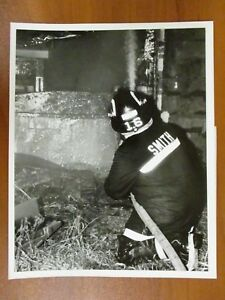 Vintage Glossy Press Photo Natick Ma Fireman At Open