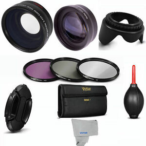 58mm-WIDE-ANGLE-MACRO-2X-TELEPHOTO-FILTER-KIT-GIFTS-FOR-CANON-EOS-REBEL-T3-T3I
