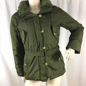 b1cd99e6f DKNY Womens Size XS Olive Green Belted Down Filled Coat Jacket Parka ...
