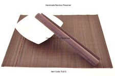 4 Fine Quality Handmade Bamboo Placemats Table Mats, Purple (Brown), PJ012