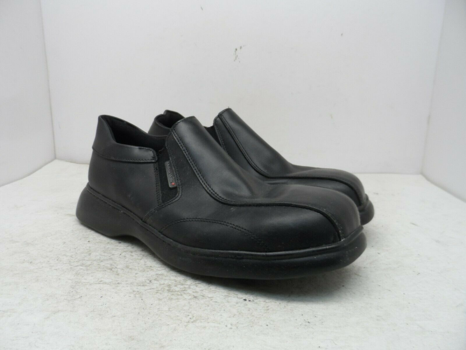 Mellow Walk Men's Sole Patrick Synthetic Casual Slip On Shoes Black Size 9EE