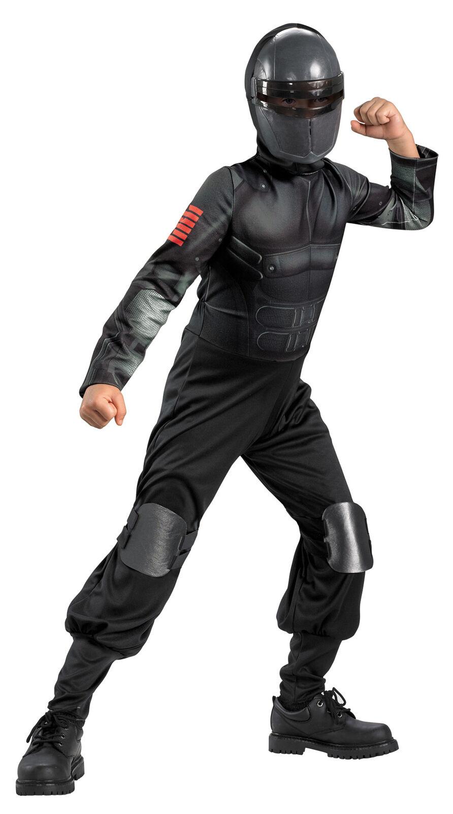 Snake Eyes Classic Hood Child Boys Costume Jumpsuit Gi Joe Halloween Fancy Dress
