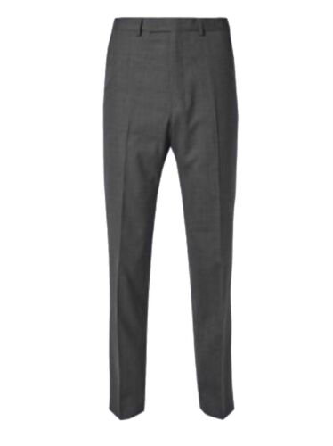 W-34-L-31 M/&S Mens Rrp £44 SUPER SLIM  Fit CHARCOAL Trousers Marks /& Spencer