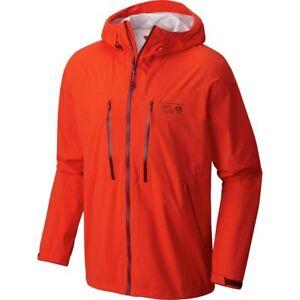 175-Mountain-Hardwear-Thundershadow-Rain-Jacket-Men-039-s-Medium-Orange-NWT