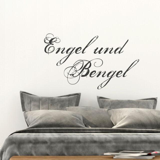 """Engel Wandsticker Flügel Wandaufkleber Wandtattoo Spruch /""""Freunde.../"""""""