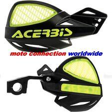 NEW ACERBIS UNIKO VENTED BLACK FLUO YELLOW HANDGUARDS HONDA CR125 CR250