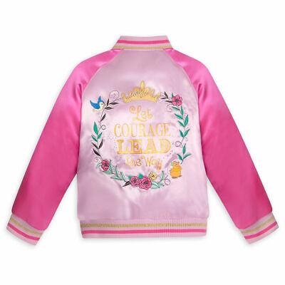 DISNEY Store VARSITY JACKET for Girls 2018 DISNEY PRINCESS PINK Choose Size NWT