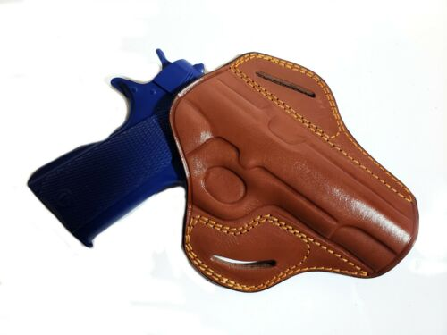 OWB Butterfly Pancake Concealed Carry Leather Belt Holster for Colt 1911