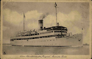 Seefahrt-Schiffe-Schiffspost-1928-Salon-Schnelldampfer-RUGARD-Sassnitz-Linie