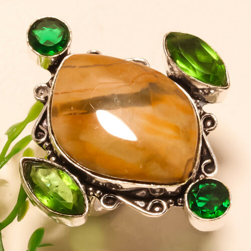 Christmas Gift !! Free Shipping Mix-Stone 925 Silver Gemstone Jewelry Ring