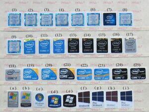 5PCS Intel Core i7 Sticker 1st Gen//3rd Gen//4th Gen//6th Gen//7th Gen//8th Gen