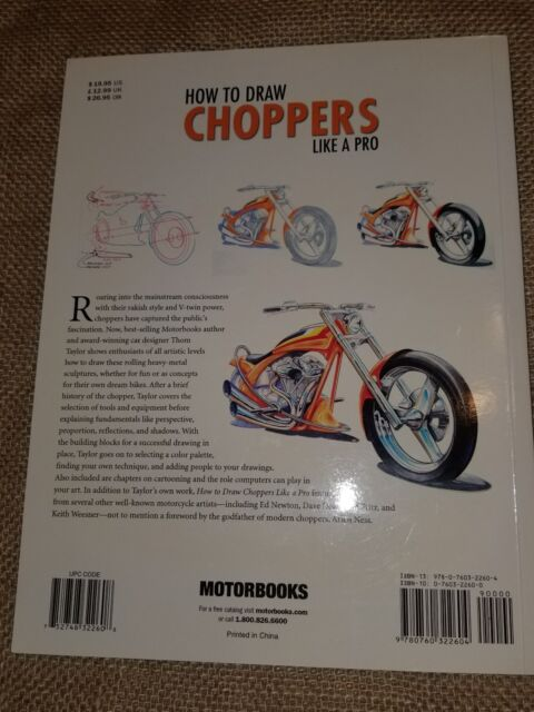 Motorbooks Studio: How to Draw Choppers Like a Pro by Thom Taylor (2005, Paperb…