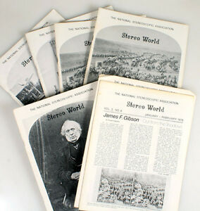 THE NATIONAL STEREOSCOPIC ASSOCIATION STEREO WORLD MAGAZINE, LOT OF 7