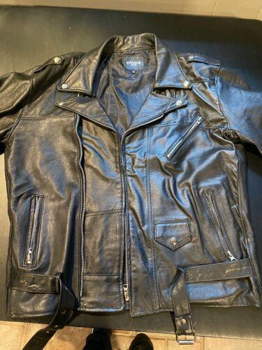 Smooth AF Leather Jacket Mens 46 Lightweight Vinta