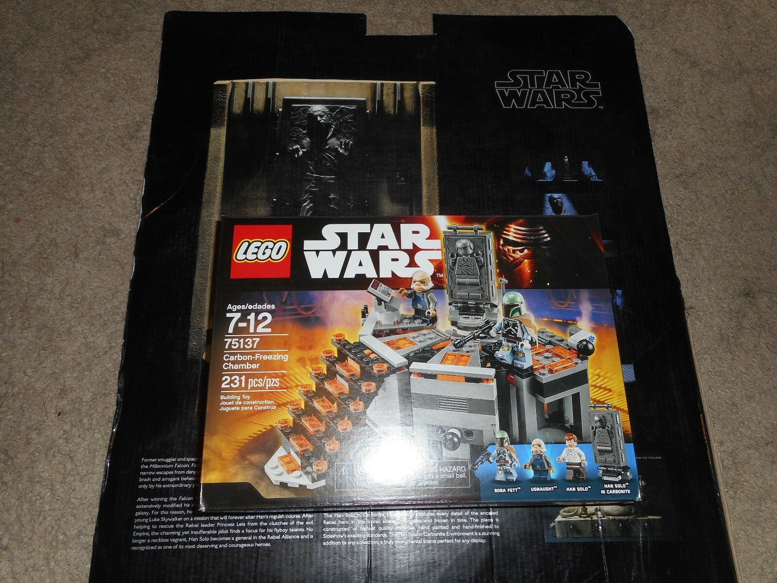 STAR LEGO WARS RETIRED CHAMBER CARBON-FREEZING 75137