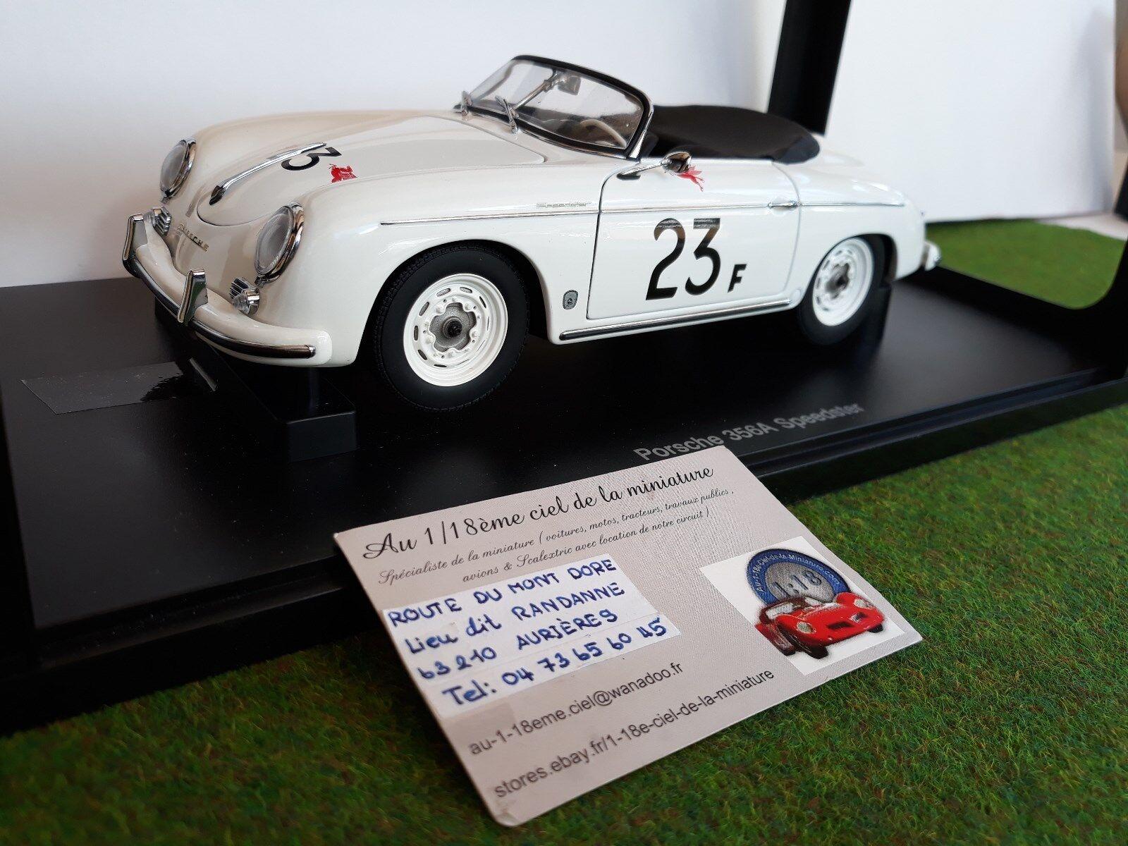 PORSCHE 356 A SPEEDSTER blnc  23F 1 18 AUTOART 77865 voiture miniature cabriolet