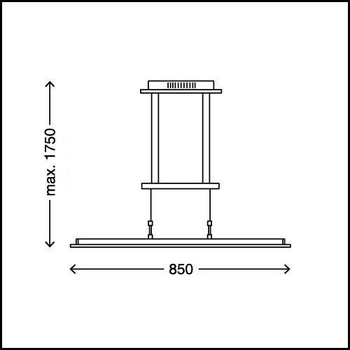 Suspension LED réglable en hauteur luminaire lustre filaire design dimmable 20W