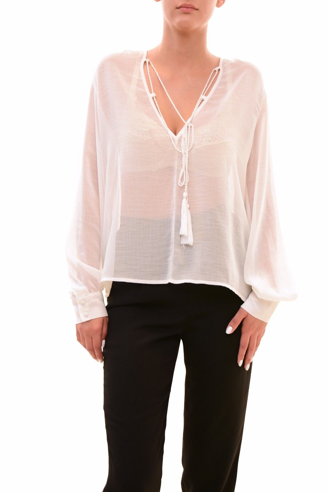 Finders Keepers Women's Authentic Marconi Top Cloud White Size S RRP  BCF710