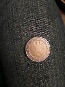 Pièce de  2 euros  très  très rare allemand 2002 aigle fédérale