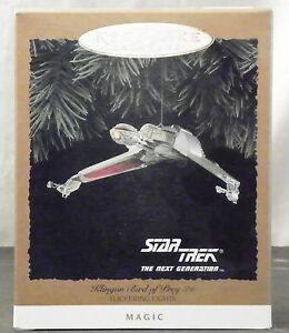 1994-HALLMARK-KEEPSAKE-STAR-TREK-THE-NEXT-GENERATION-034-KLINGON-BIRD-OF-PREY-034-MIB