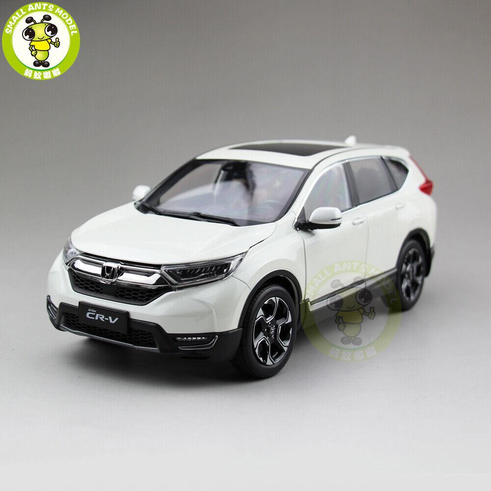 1 18 HONDA CRV CR-V sport utility vehicle Diecast Metal Voiture Véhicule utilitaire sport modèle jouets garçon fille eau Blanc