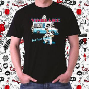 Vanilla Ice Ice Ice Baby Rap Hip Hop Logo Men/'s Black T-Shirt Size S to 3XL