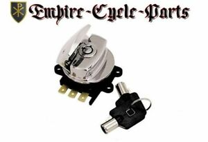 Chrome-Side-Hinge-Ignition-Switch-for-Harley-Softail-Road-King-Dyna-Wide-Glide