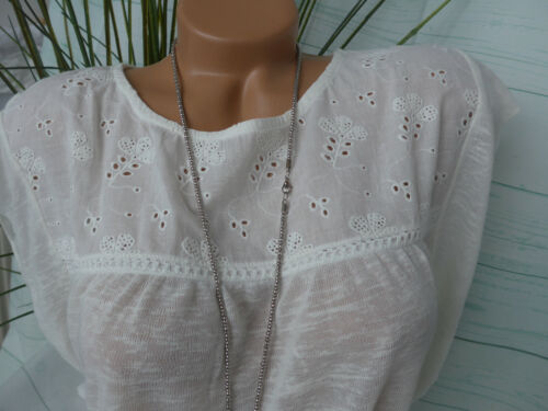 Tom Tailor Women/'s Blouse Shirt Size XS to XL Cream Lace Soft Falling 939