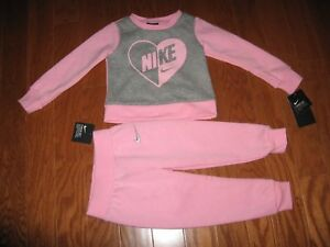 c816bb1ba Baby & Toddler Clothing Pull Over Sweat Hoodie & Pants Set Size 12M/18M/24M  /2T NWT Nike GIRLS' 2-Pc ...