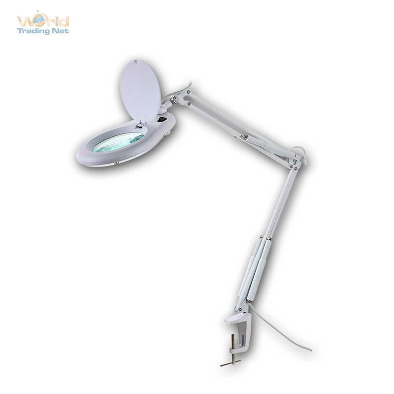 Lupenleuchte mit 80 LED 960lm, Lupenlampe, Lupe 5 Dioptrien mit Licht, Leuchte