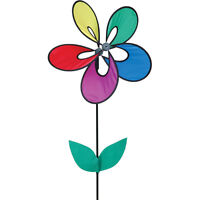 Petite Rainbow Whirly Wing Flower Wind Spinner With Pole Pr 25042