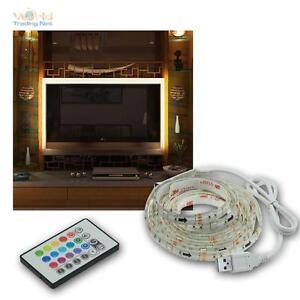 RGB-TV-Hintergrundbeleuchtung-LED-SET-fuer-42-65-034-107-165cm-Fernseher-Ambient