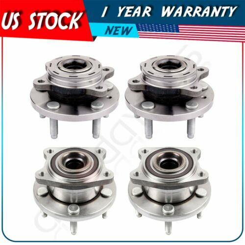 4 Front And Rear Wheel Hub Bearing For Ford Five Hundred /& Freestyle 2005-2007