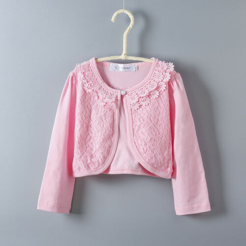 4Toddler Kids Baby Little Girls Lace Princess Shirt Cardigan Shrug Tops Clothes